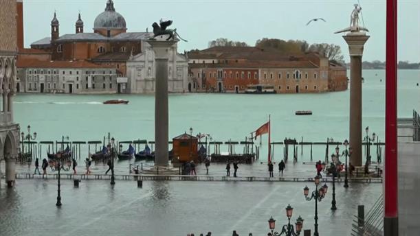 «Βυθισμένη» κάτω από τα νερά η Βενετία