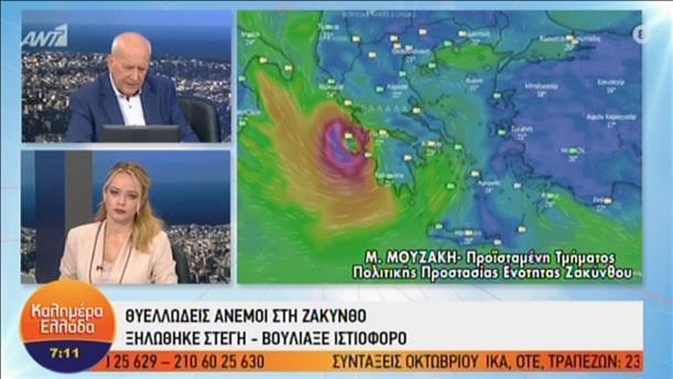 """Η Πρ. Πολιτικής Προστασίας ΠΕΖ Μαρία Μουζάκη στην εκπομπή """"Καλημέρα Ελλάδα"""""""