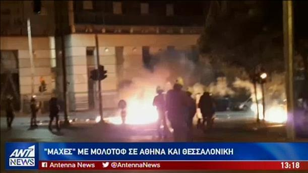 """""""Εκρηκτική"""" νύχτα σε Αθήνα και Θεσσαλονίκη"""