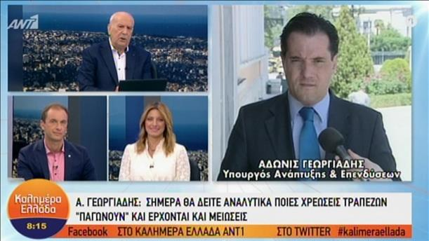 """Ο Άδ. Γεωργιάδης στην εκπομπή """"Καλημέρα Ελλάδα"""" για τις χρεώσεις των τραπεζών"""