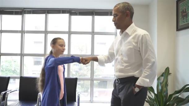 Ο Μπαράκ Ομπάμα συναντήθηκε με την Γκρέτα Τούνμπεργκ