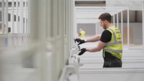 Αγγλία: Κατασκευάζεται νοσοκομείο για τον κορονοϊό