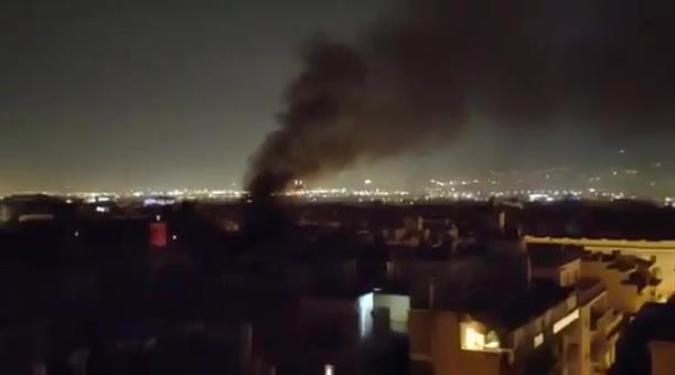 Πυρκαγιά σε κτίριο στο κέντρο της Αθήνας