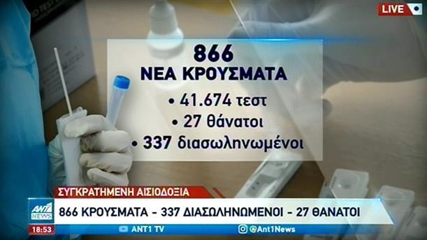 Κορονοϊός: Εκατοντάδες νέα κρούσματα την Τρίτη στην Ελλάδα
