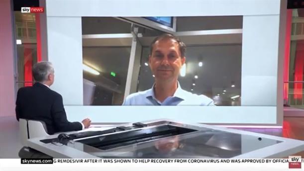 Συνέντευξη Χάρη Θεοχάρη στην εκπομπή «Sky News Tonight»