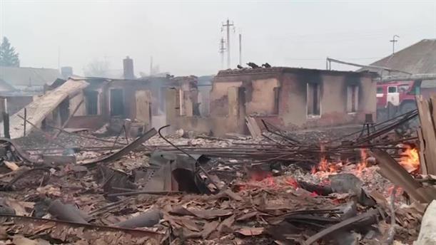 Καταστροφές από φωτιά στη Σιβηρία