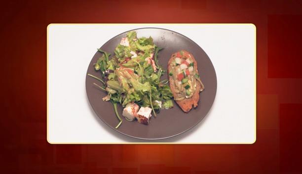 Μπρουσκέτα με μελιτζάνα και pico de gallo του Μιχάλη - Ορεκτικό - Επεισόδιο 67