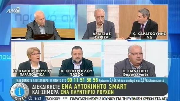 Πρωινό ΑΝΤ1 – Εκπομπή - 12/05/2015