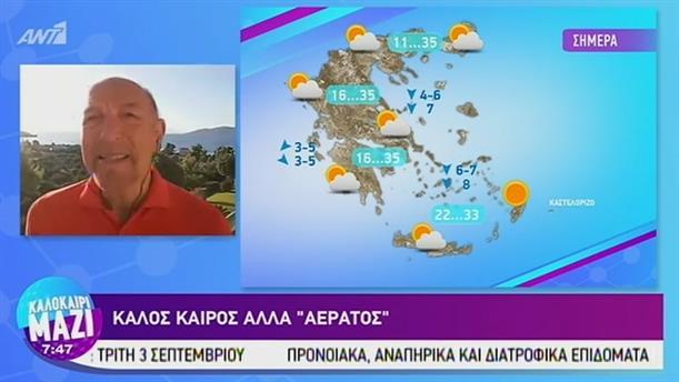 Καιρός - ΚΑΛΟΚΑΙΡΙ ΜΑΖΙ - 20/08/2019