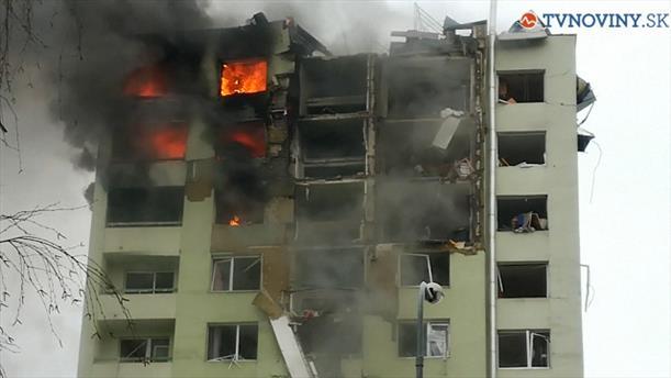 Μεγάλη έκρηξη σε πολυκατοικία στην Σλοβακία