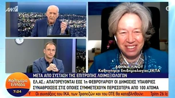 Αθηνά Λινού - καθηγήτρια επιδημιολογίας ΕΚΠΑ – ΚΑΛΗΜΕΡΑ ΕΛΛΑΔΑ - 26/01/2021