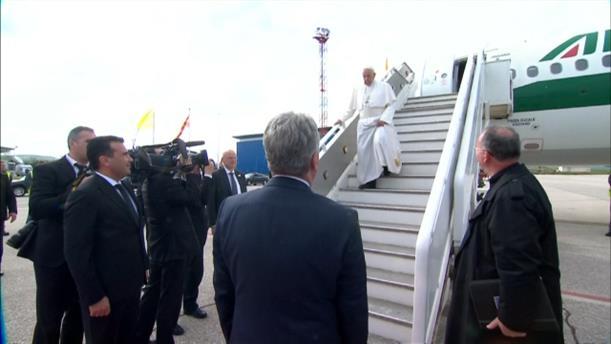 Άφιξη του Πάπα Φραγκίσκου στη Βόρεια Μακεδονία