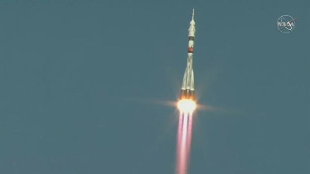 Εκτόξευση του Σογιούζ προς τον Διεθνή Διαστημικό Σταθμό