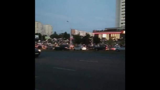 Πορεία διαμαρτυρίας στο Μινσκ