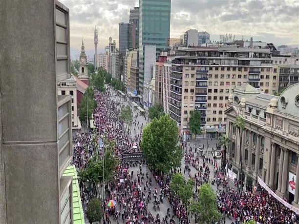 Ρεκόρ διαδηλωτών στο Σαντιέγκο