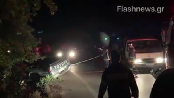 Επιχείρηση της Πυροσβεστικής σε τροχαίο ατύχημα στην Κρήτη