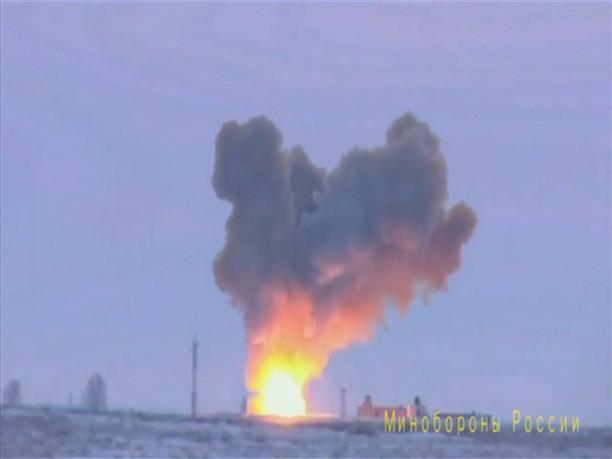 Παρουσία του Πούτιν η δοκιμή του υπερηχητικού πυραύλου Avangard