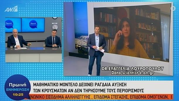 Ευαγγελία Λουροπούλου – Πρωινή Ενημέρωση – 19/03/2020