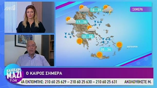 Καιρός - ΚΑΛΟΚΑΙΡΙ ΜΑΖΙ - 23/07/2019