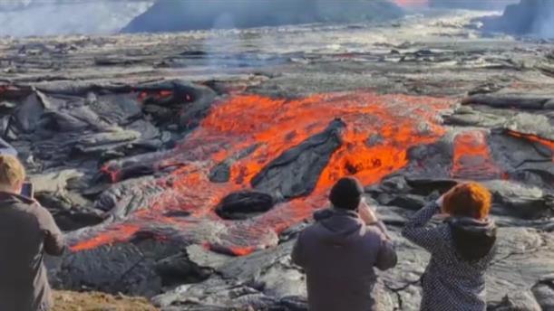 Εντυπωσιακές εικόνες από το ηφαίστειο στην Ισλανδία