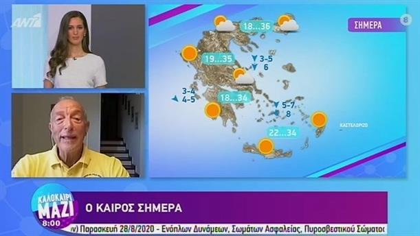 ΚΑΙΡΟΣ – ΚΑΛΟΚΑΙΡΙ ΜΑΖΙ - 21/08/2020