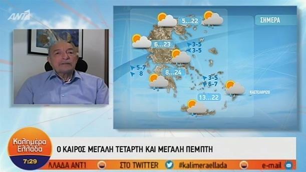 ΚΑΙΡΟΣ – ΚΑΛΗΜΕΡΑ ΕΛΛΑΔΑ - 24/04/2019