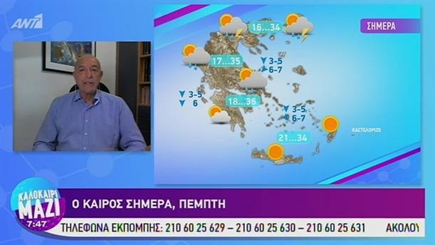 Καιρός - ΚΑΛΟΚΑΙΡΙ ΜΑΖΙ - 25/07/2019