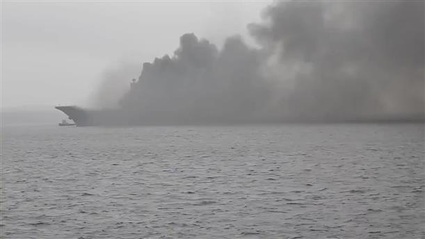 """Φωτιά ξέσπασε στο ρωσικό αεροπλανοφόρο """"Admiral Kuznetsov"""""""