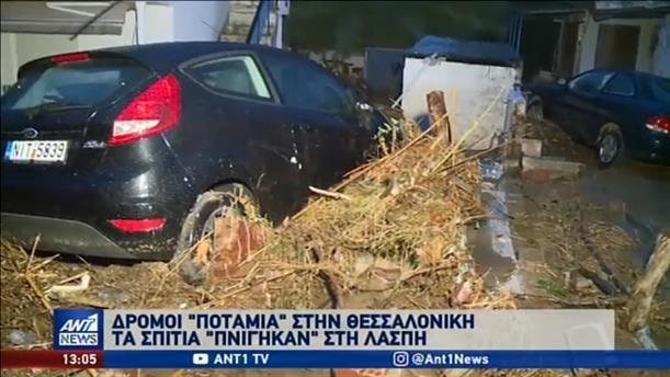 Κακοκαιρία «χτύπησε» τη βόρεια και κεντρική Ελλάδα
