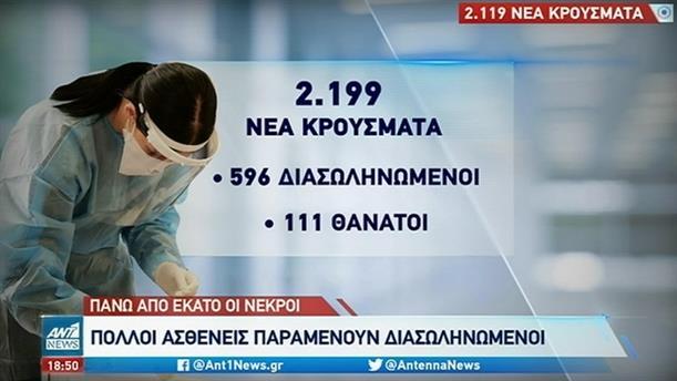 Κορονοϊός: 111 νεκροί το προηγούμενο 24ωρο στην Ελλάδα