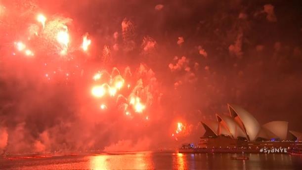 Πυροτεχνήματα για την Πρωτοχρονιά στην Αυστραλία