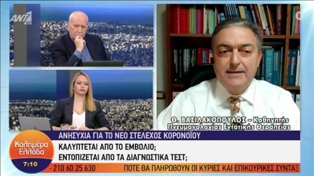 "O Θεόδωρος Βασιλακόπουλος στην εκπομπή ""Καλημέρα Ελλάδα"""