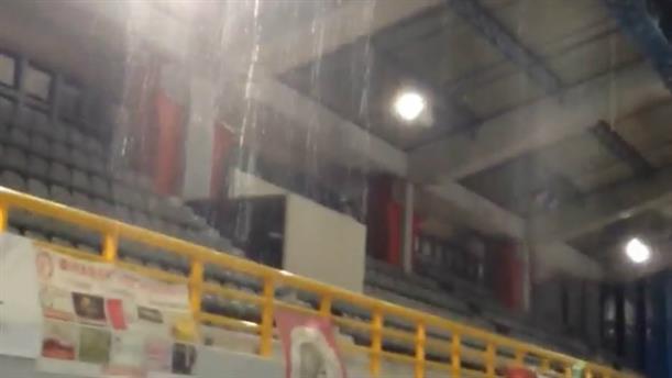 Πλημμύρισε το κλειστό γυμναστήριο του Πύργου