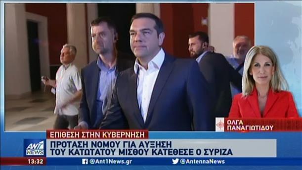 Πρόταση νόμου του ΣΥΡΙΖΑ για τον κατώτατο μισθό
