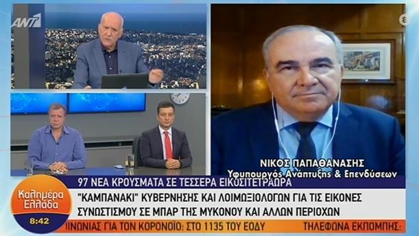 Νίκος Παπαθανάσης – Υφυπουργός Ανάπτυξης και Επενδύσεων – ΚΑΛΗΜΕΡΑ ΕΛΛΑΔΑ – 09/06/2020