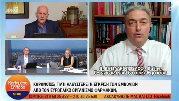 Ο Θεόδωρος Βασιλακόπουλος στην εκπομπή «Καλημέρα Ελλάδα»