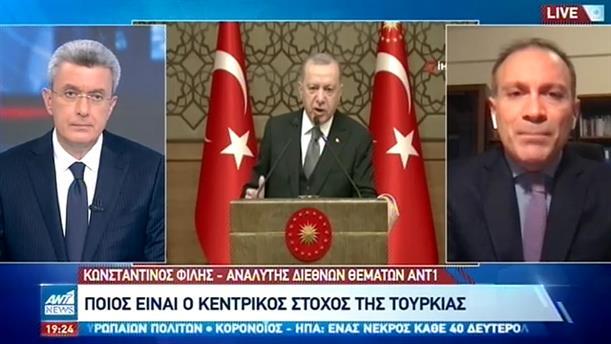 O Κωνσταντίνος Φίλης στον ΑΝΤ1 για τη στάση της Τουρκίας