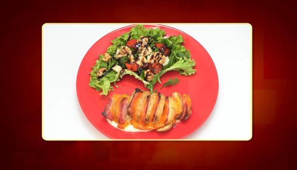 Πατάτα ακορντεόν με γέμιση μπέικον, τσένταρ και σος γιαουρτιού της Βαρβάρας - Ορεκτικό - Επεισόδιο 21