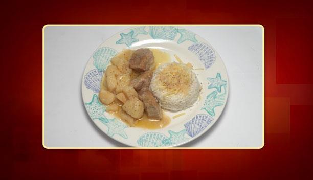 Χοιρινό λεμονάτο με πατάτες και ρύζι μπασμάτι της Φανής - Κυρίως πιάτο - Επεισόδιο 97