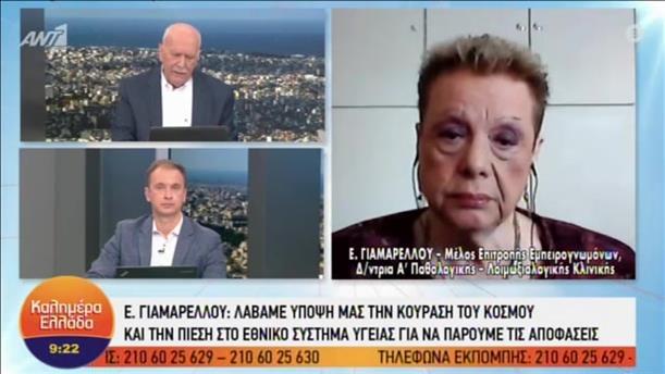 """Η Ελένη Γιαμαρέλλου στην εκπομπή """"Καλημέρα Ελλάδα"""""""