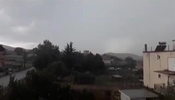 Έντονη βροχόπτωση στην Αμπέλα Σιντικής