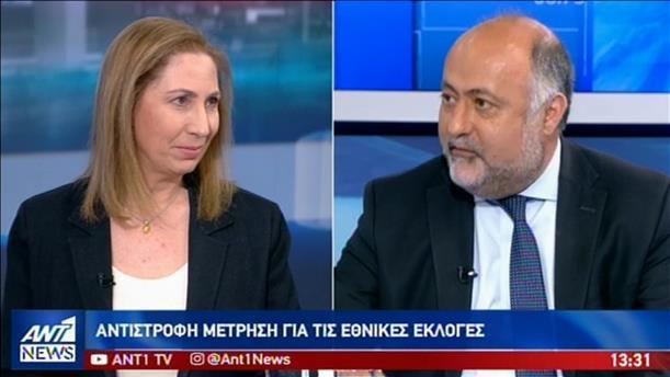 Ξενογιαννακοπούλου – Τσιόδρας στον ΑΝΤ1 για τις πρόωρες εκλογές