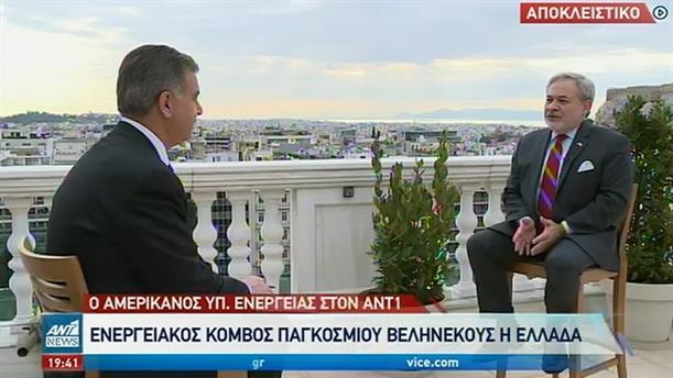 Νταν Μπρουλέτ στον ΑΝΤ1: Ενεργειακός κόμβος παγκόσμιου βεληνεκούς η Ελλάδα