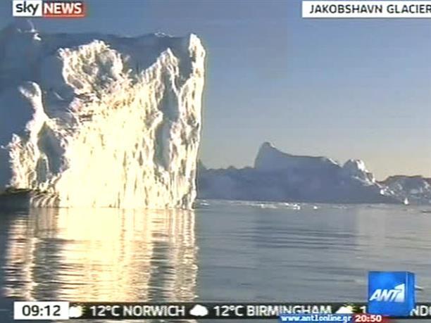 Ανησυχία για τον παγετώνα της Γροιλανδίας