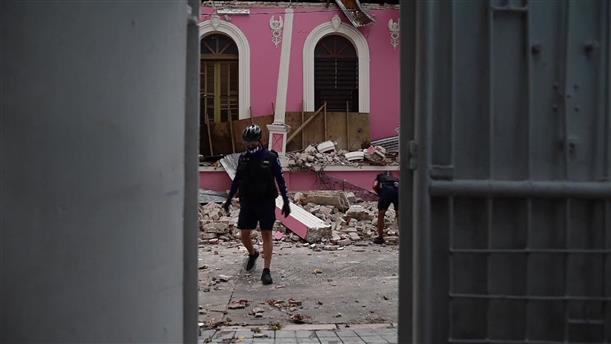 Καταστροφές από το σεισμό στο Πουέρτο Ρίκο