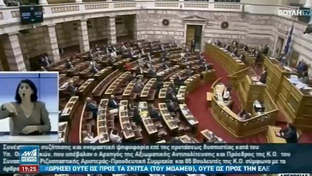 Καταψηφίστηκε η πρόταση μομφής κατά Σταϊκούρα