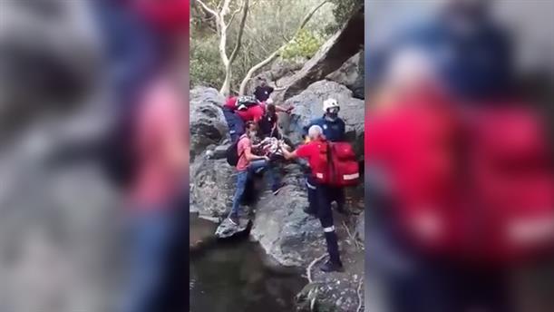 Κρήτη: Επιχείρηση διάσωσης γυναίκας που έπεσε σε φαράγγι