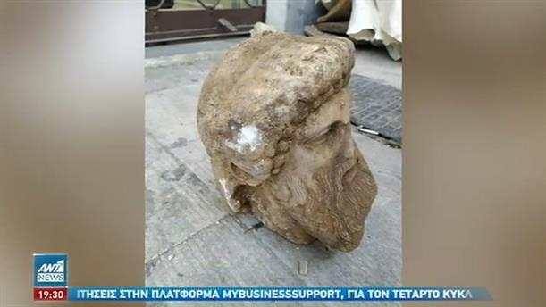 Κεφαλή του 4ου π.Χ. αιώνα η αποκάλυψη στην Αιόλου