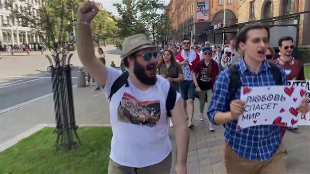 Διαμαρτυρία κατά του Λουκασένκο στη Λευκορωσία