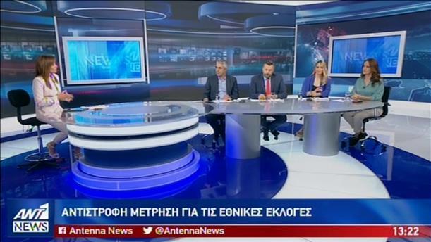 Τσίπρας, Καλλιάνος, Σαγρή και Μπαλού στον ΑΝΤ1 για τις εθνικές εκλογές